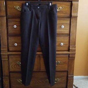 So Slimming CHICO'S Brown Dress Pants